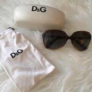 D&G Accessories - D&G Dolce & Gabbana Oversized Oval Sunglasses