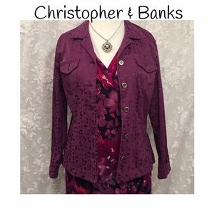 Christopher & Banks Jackets & Blazers - Christopher and Banks jean jacket style jacket!