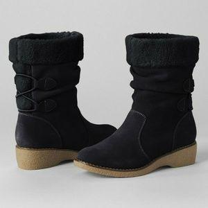 Land's End Back-lace Chalet Suede Boots