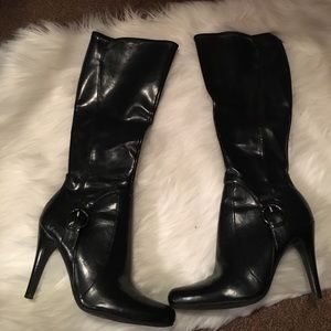 Marc Fisher Shoes - Black heeled dress boots