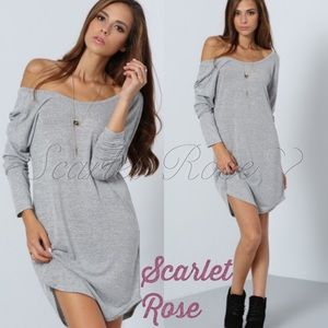 Scarlet Rose Boutique Dresses & Skirts - 🌹Gray Over-Sized Shirt Dress or Tunic🌹