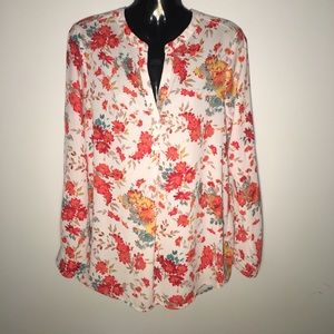 Pleione Tops - Pleione Nordstrom floral long sleeve tunic small
