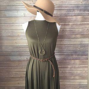 Bellino Clothing Dresses & Skirts - Olive Swing Dress