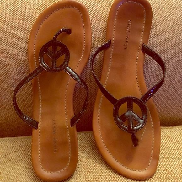 Nine West Peace Sign Sandals   Flip Flops ✌ ✌ . M 58c4b27a6a58307c38018ab3 62fe65132