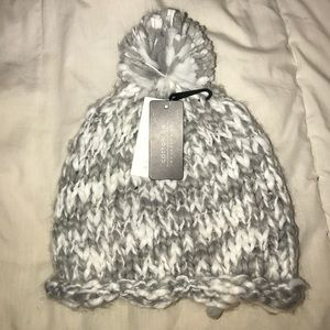 super cute grey & white knit beanie from Cotton On
