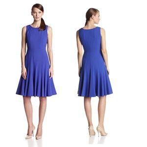 Calvin Klein Sleeveless Fit-&-Flare Dress in Blue