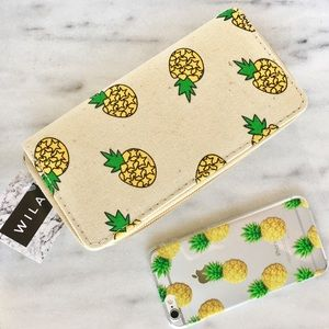 WILA Accessories - New! Pineapple wallet and pineapple phone case set