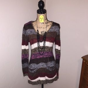 Rue21 Sweaters - Rue 21 Multicolored cable knit sweater, pockets