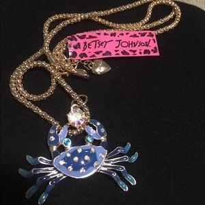 Betsey Johnson Jewelry - Betsey Johnson blue crab necklace