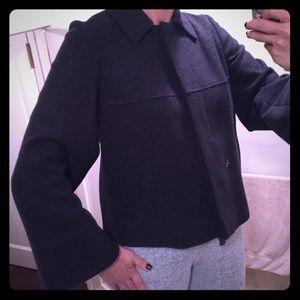 Les Copains Jackets & Blazers - Les Copains Jeans short wool dark gray coat