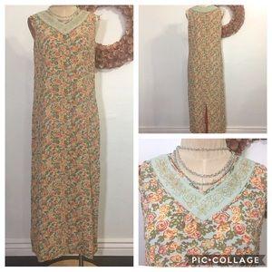 april cornell Dresses & Skirts - April Cornell Prairie Peasant Boho Maxi Dress