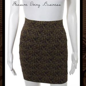 Pleasure Doing Business Dresses & Skirts - PLEASURE DOING BUSINESS Brown/Blk Animal Skirt
