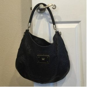 Anya Hindmarch Handbags - Anya Hindmarch textured black leather pocketbook