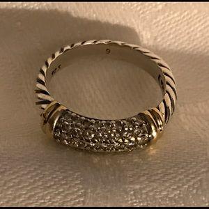 David Yurman Jewelry - David Yurman Metro Sterling/18Kt PaveDiamond Ring