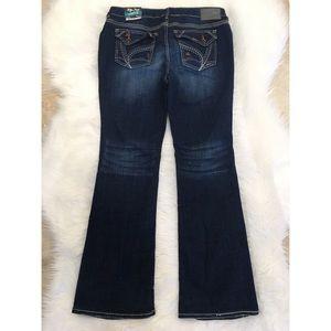 Ariya Denim - Ariya jeans Curvy Bootcut stretch dark blue wash