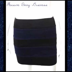 Pleasure Doing Business Dresses & Skirts - PLEASURE DOING BUSINESS Navy/Black Banded Skirt