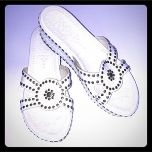 Ash Shoes - White Ash sandals size 7 with studs on them
