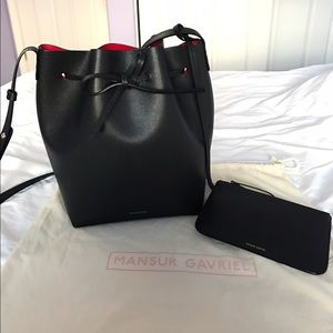 Mansur Gavriel Handbags - Mansur Gavriel Saffiano Bucket Bag