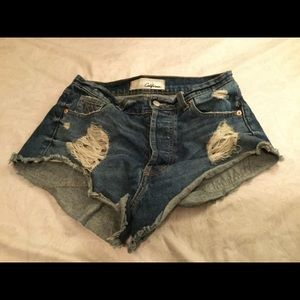 The Laundry Room Pants - The laundry room distressed denim shorts