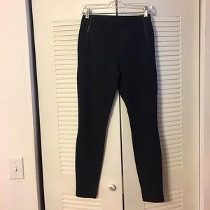 T Tahari Pants - TAHARI BLACK ZIPPER DETAIL STRETCH DRESS PANTS S/P