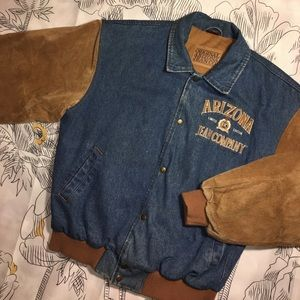 Arizona Jean Company Other - Vintage Arizona Jean Denim x Suede Varsity Jacket