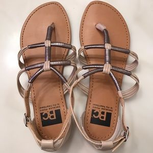 BC Footwear Shoes - BC gladiator sandals, new.