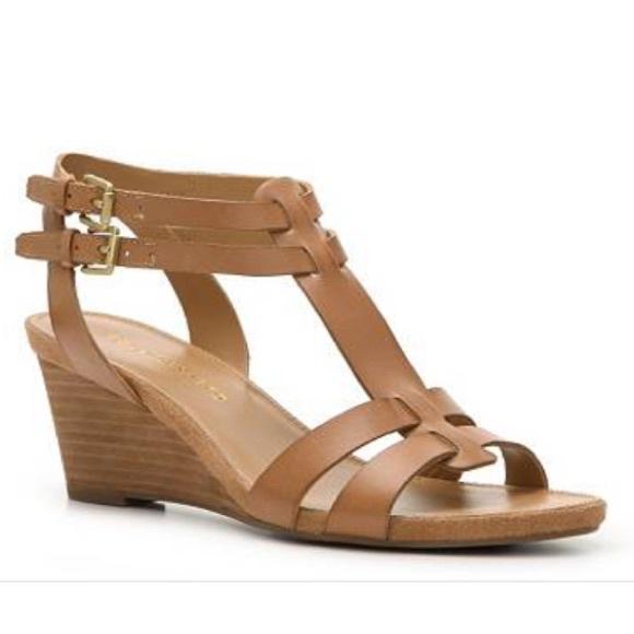 9bd0f1abef9 Franco Sarto Shoes - Franco Sarto gladiator sandal tan small wedge