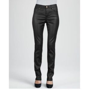 Liverpool Jeans Company Denim - Liverpool Leather-Coated Black Skinny Jeans