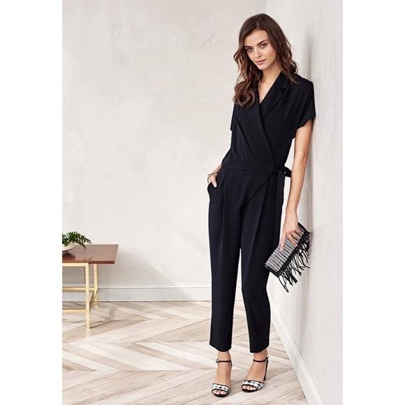 20267aae671 ✨HP✨Banana Republic• Tuxedo Style Jumpsuit • Black