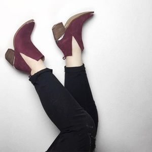 Jeffrey Campbell Shoes - Jeffrey Campbell Burgundy Cromwell boots