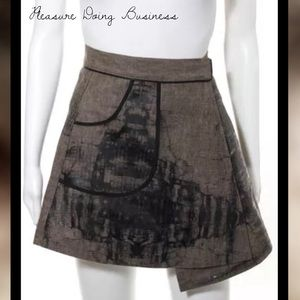 Pleasure Doing Business Dresses & Skirts - PLEASURE DOING BUSINESS Brown/Blk Full Wrap Skirt