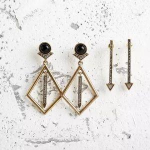 17Basics Jewelry - ⚡️SALE⚡️25SUMMER diamond geometry drop earrings