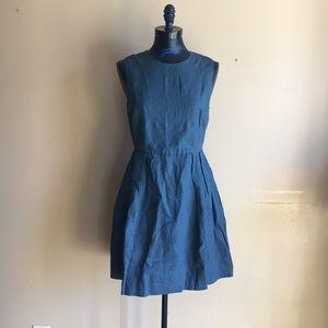 New Gap Linen Fit & Flare Dress