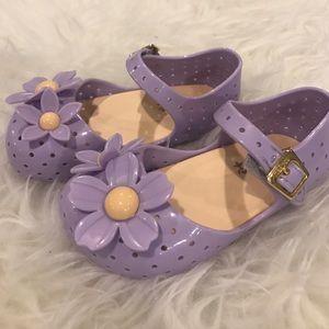 Mini Melissa Other - NWT - Mini Melissa Lilac Flower Sandals SZ 7