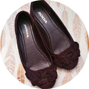 Soda Shoes - Deep Purple Flats