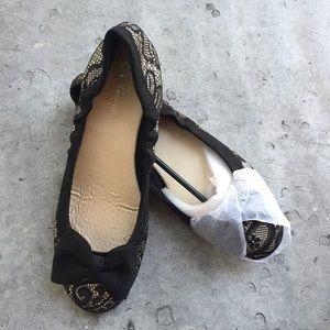 Chinese Laundry Shoes - Chinese Laundry Black Lace Overlay Flats