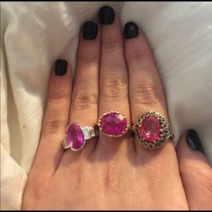 Vintage Jewelry - Pink Rings! All marked 925!