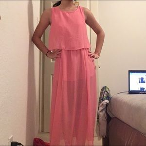 a'gaci Dresses & Skirts - Pink Sheer Dress