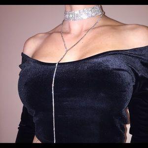 Jewelry - 👄Glam Crystal Drop Choker 👄