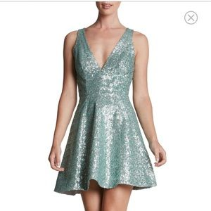 Dress the Population Dresses & Skirts - Adorable Sequin Fit & Flare Skater Skirt Mini