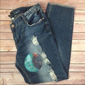 Ariya Denim - NWT Ariya Curvy Distressed Jeans