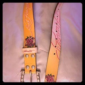 Ed Hardy Accessories - 🌹 Leather Ed Hardy Belt