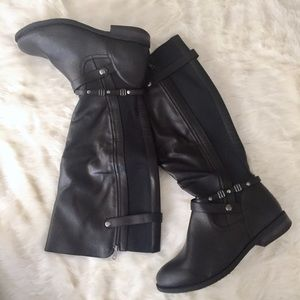 Catherines Shoes - Black Riding Boots