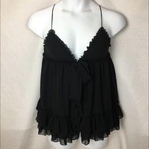 Victoria's Secret Black Sheer Lingerie Top Size M