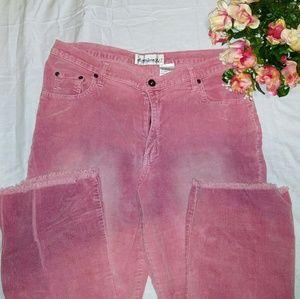 Soft rose pink corded vintage jeans