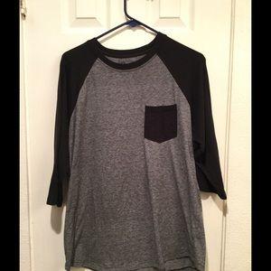 Retrofit Other - Men's grey and black baseball tshirt
