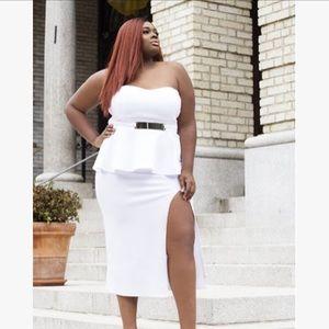 Dresses & Skirts - New white peplum dress