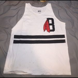 Black Scale Other - Black scale graphic tank top