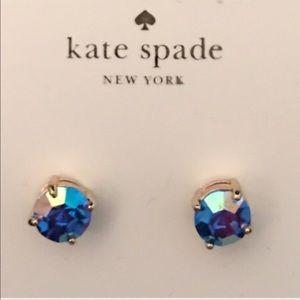 kate spade Jewelry - KATE SPADE STUD EARRINGS NWT BLUE