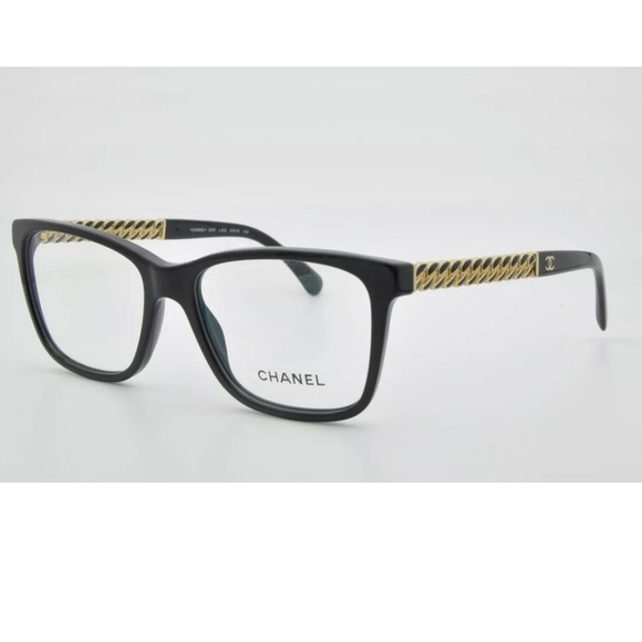 b1ddb39b3a CHANEL Accessories - New Chanel eyeglasses frames black wiz gold chain